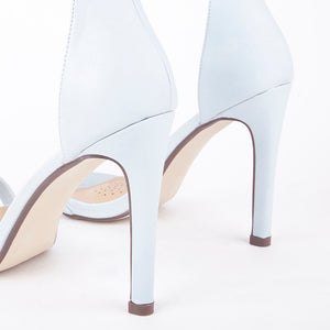 Chloe Pastel Blue Barely There Strappy Heels