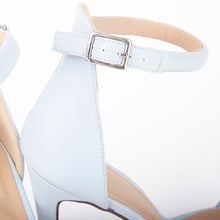 Load image into Gallery viewer, Chloe Pastel Blue Barely There Strappy Heels