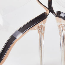 Load image into Gallery viewer, Cora Black Pointed Perspex Heels