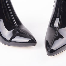 Load image into Gallery viewer, Daisy Black Perspex Ankle Boots