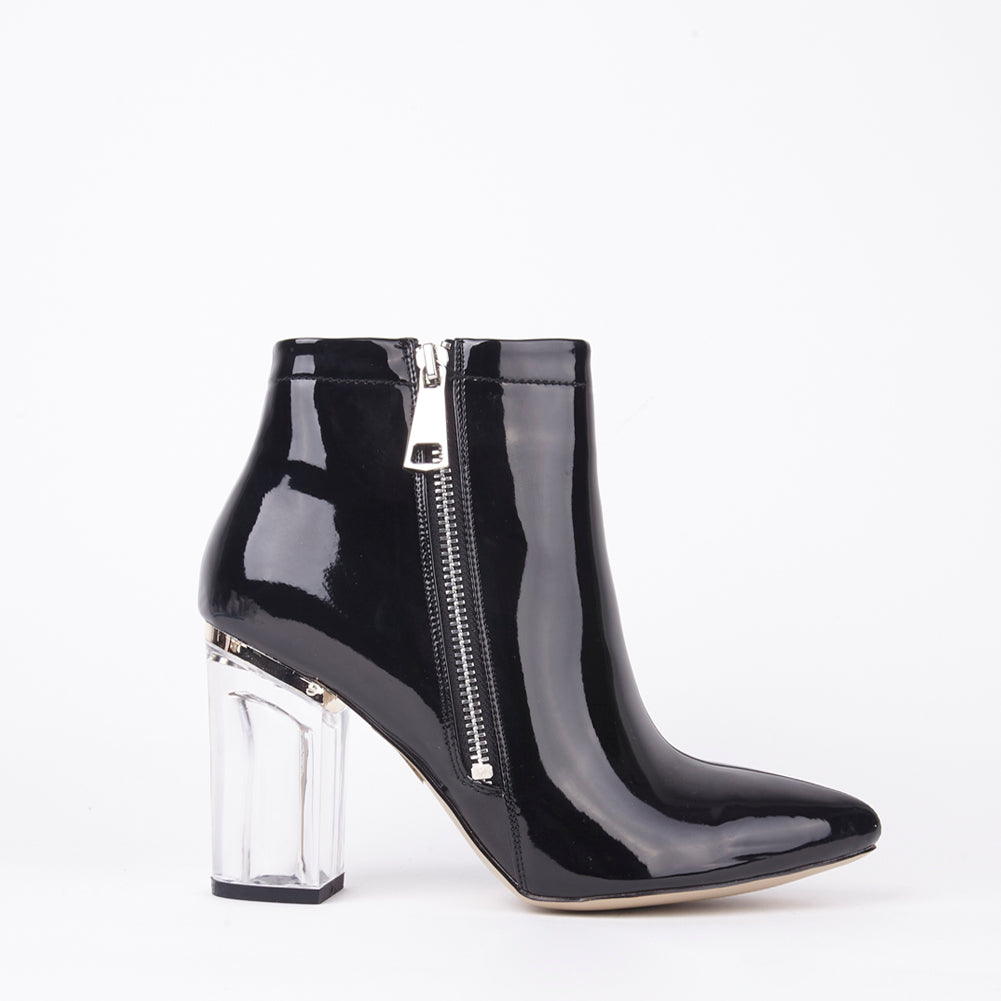 Daisy Black Perspex Ankle Boots