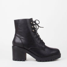 Load image into Gallery viewer, Delilah Lace Up Biker Boots