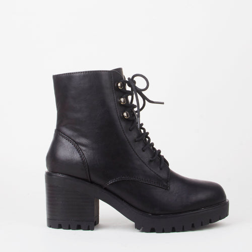 Delilah Lace Up Biker Boots