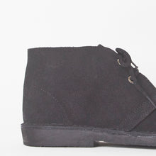 Load image into Gallery viewer, Edie Black Faux Suede Desert Boots