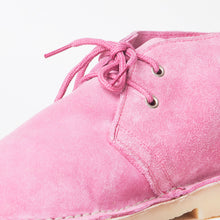 Load image into Gallery viewer, Edie Pink Faux Suede Desert Boots