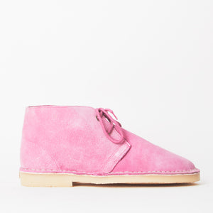 Edie Pink Faux Suede Desert Boots
