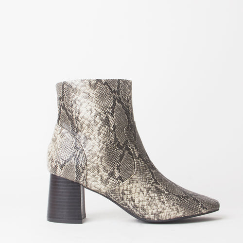 Erika Snake Print Ankle Boots