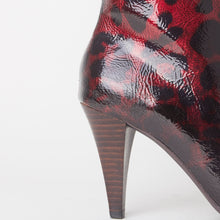 Load image into Gallery viewer, Felicity Red Leopard Print Heeled Ankle Boots