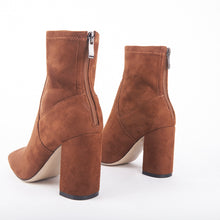 Load image into Gallery viewer, Freya Tan Suede Ankle Boots