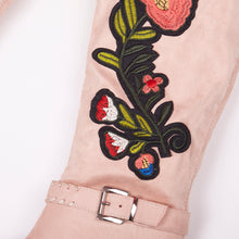 Load image into Gallery viewer, Jordan Pink Embroidered Sandals