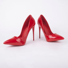 Load image into Gallery viewer, Julie Red Patent Court Heels
