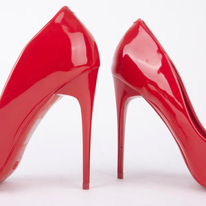 Julie Red Patent Court Heels