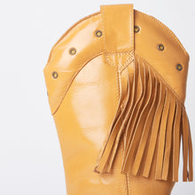 Load image into Gallery viewer, Kelsey Tan Western Cowboy Knee High Boots With Tassels