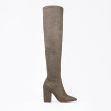 Load image into Gallery viewer, Lola Knee High Khaki Boots