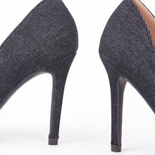Load image into Gallery viewer, Lottie Pointed Denim Court Heels