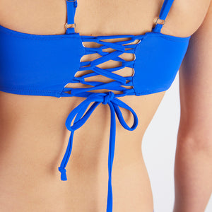 Lucia Blue Square Neck Bikini Set