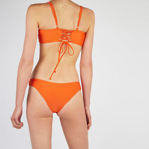 Lucia Orange Square Neck Bikini Set