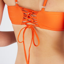 Load image into Gallery viewer, Lucia Orange Square Neck Bikini Set