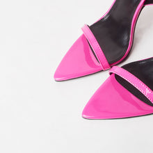 Load image into Gallery viewer, Lucy Hot Pink Pointed Heels