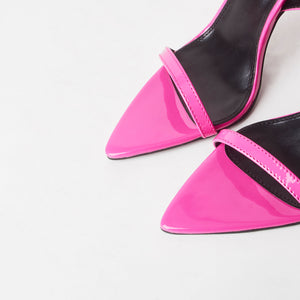 Lucy Hot Pink Pointed Heels