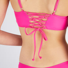 Load image into Gallery viewer, Lucia Pink Square Neck Bikini Set