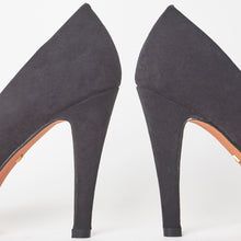 Load image into Gallery viewer, Black Faux Suede Mini Platform High High Stiletto Court Shoes