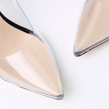 Load image into Gallery viewer, Maye Black Perspex Court Heels