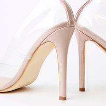 Load image into Gallery viewer, Maye Nude Perspex Court Heels