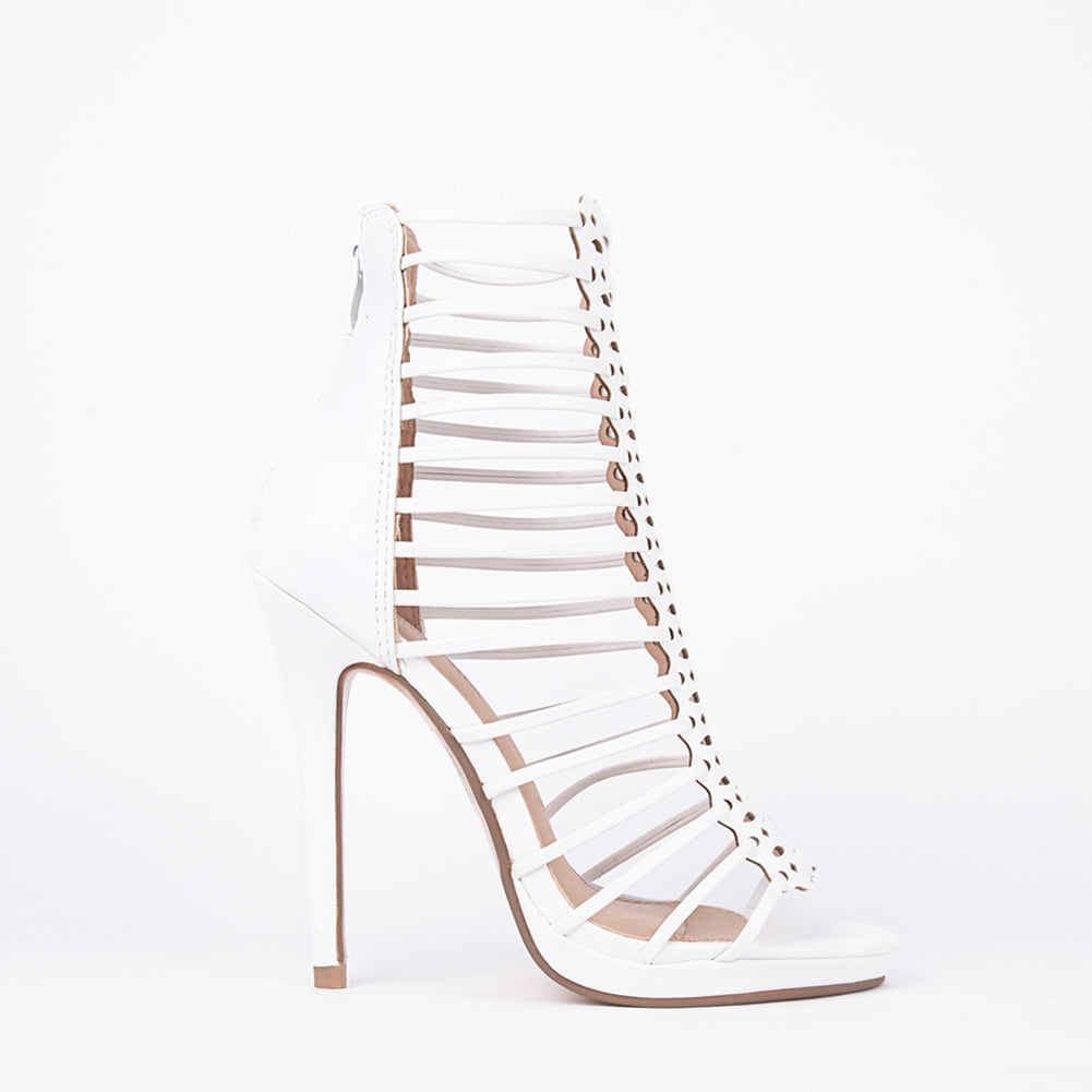 Melissa White Strappy Gladiator High Heels