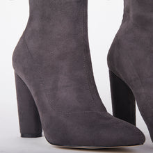 Load image into Gallery viewer, Olivia Grey Suede Ankle Boots