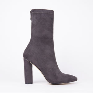 Olivia Grey Suede Ankle Boots
