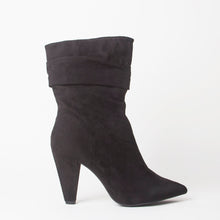Load image into Gallery viewer, Penny Black Ruffle Boots
