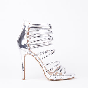 Sasha Silver Metallic Gladiator Sandals