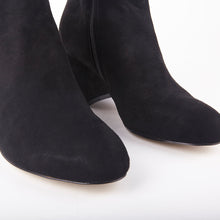 Load image into Gallery viewer, Saskia Black Suede Ankle Boots With Block Heel