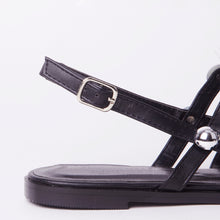 Load image into Gallery viewer, Selena Black Studded Slingback Sandals