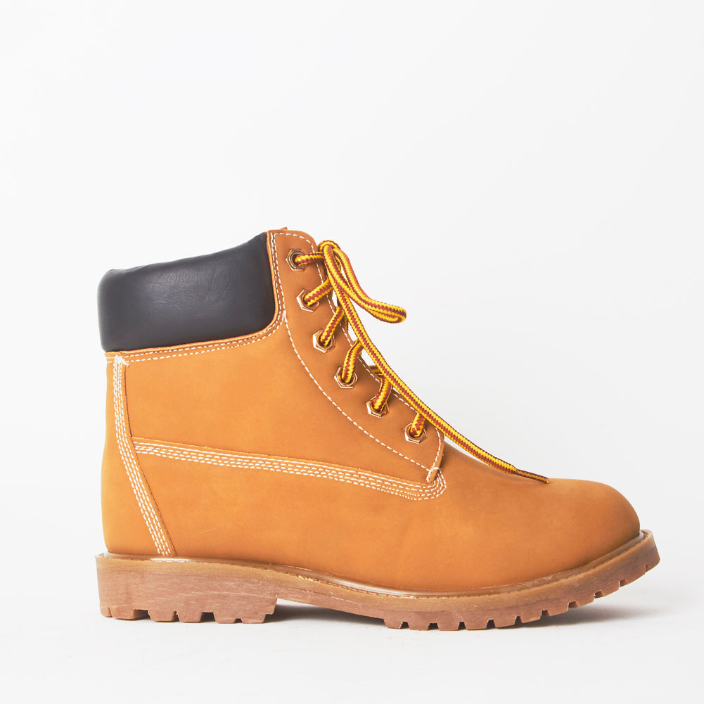 Shannon Tan Lace Up Chunky Hiker Boots
