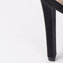 Load image into Gallery viewer, Sinita Black Faux Suede Buckle High Heels