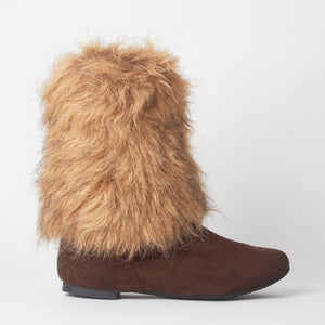 Stacey Brown Faux Fur Yeti Boots