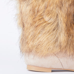 Stacey Beige Faux Fur Yeti Boots