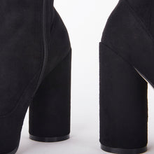Load image into Gallery viewer, Willow Black Suede Round Heel Ankle Boots