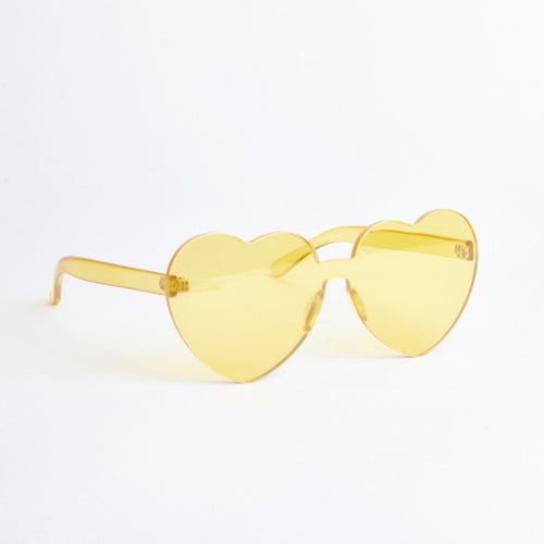 Atlanta Yellow Heart Sunglasses