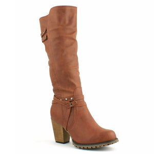 Wendy Tan Western Style Knee High Boots