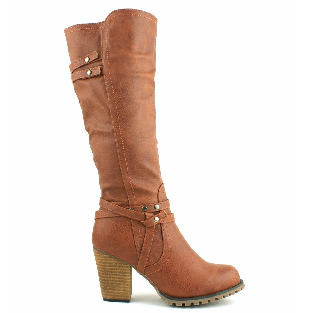 Wendy Tan Western Style Knee Boots