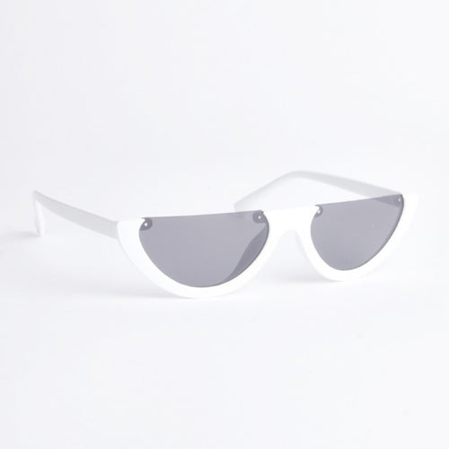 Indiana White Half Lens Sunglasses