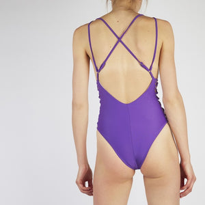 Keilani Purple Side Lace Swimsuit