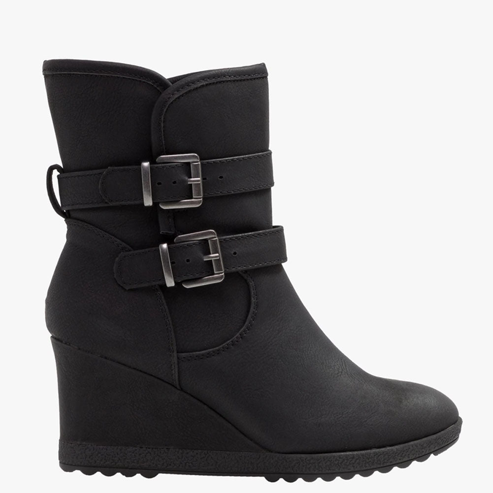 Kim Wedge Ankle Zip Up Boot