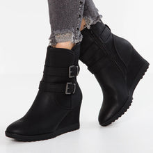 Load image into Gallery viewer, Kim Wedge Ankle Zip Up Boot
