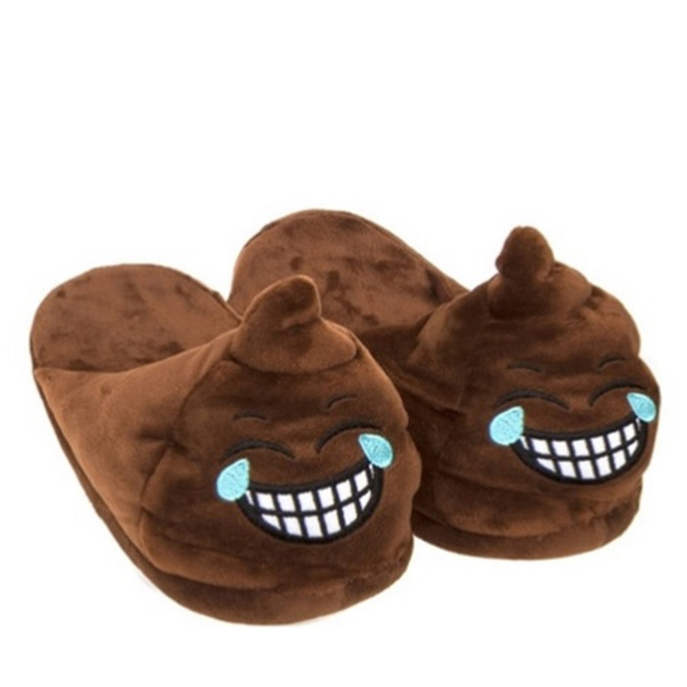 Poo Laughing Emoji Unisex Novelty Mule Slippers