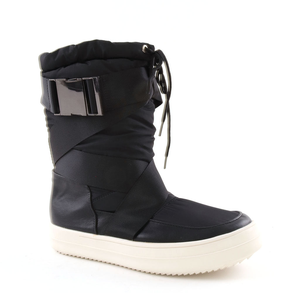 Black Ski Moon Style Winter Boot
