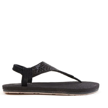 Load image into Gallery viewer, Flat Slingback Soft Sole Sandals In Black